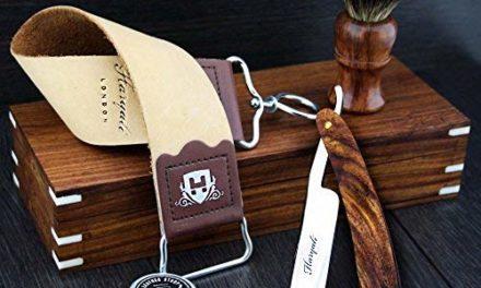 Kit de rasage barbier avec rasoir coupe-chou droit assembléà la…