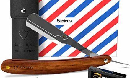 Rasoir à Barbe Traditionnel par Sapiens – Rasoir de Barbier avec…