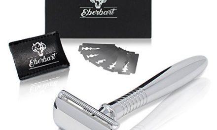 Eberbart Rasoir de sécurité avec 5 lames de rechange – Rasoir…