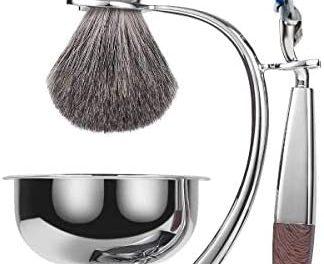 Grutti 4Pcs Kit de Rasage Brosse Set Rasage Brosse avec…