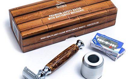Firsteco® premium rasoir de sécurité set mécanisme papillon…