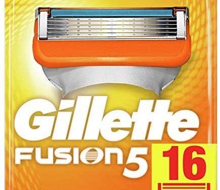 Gillette Lames Fusion 5 Homme, Pack de 16 lames [OFFICIEL]