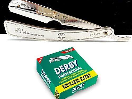 Parker SRX Straight Razor in Kit avec 100 Derby Professional…