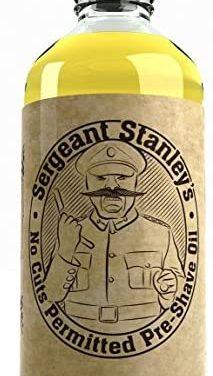 Huile de Prérasage «Aucune Coupure Permise» Sergent Stanley…