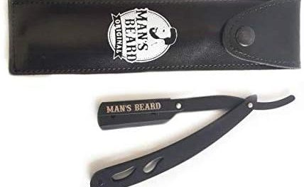 Man's Beard Rasoir en Acier Manuel Noir