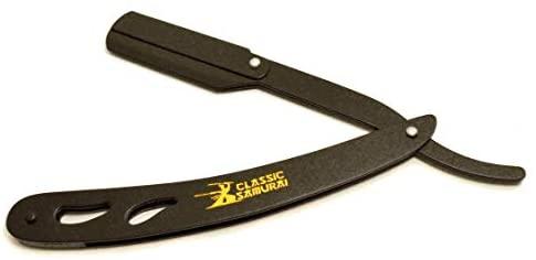 Rasoir classique Samurai noir mat coupe droite gorge rasoir…