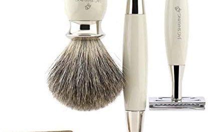 Jag Shaving Kit de rasage pour homme avec étui en cuir, super…