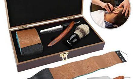 Rasoir de barbier professionnel classique à bord droit, kit de…