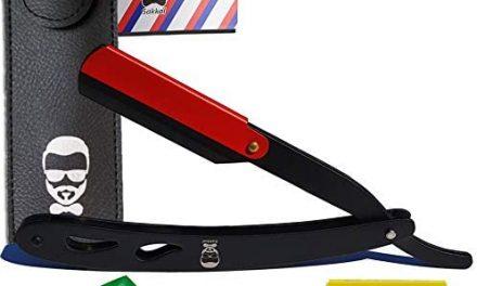 Rasoir Coupe choux SAKKAL 20 demi-lames Sac de voyage CUIR Kit…