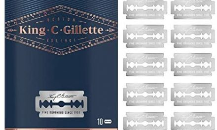 Gillette King C Lames pour Recharge Rasoir de Sûreté, Pack de 10…
