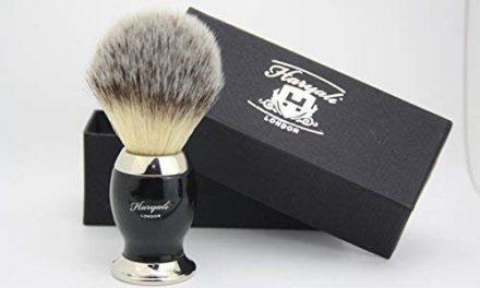 Cheveux Synthétiques Brosse de Rasage Noir & Argent Manche avec…