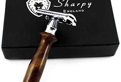 Sharpy Rasoir de sécurité avec manche en bois traditionnel…