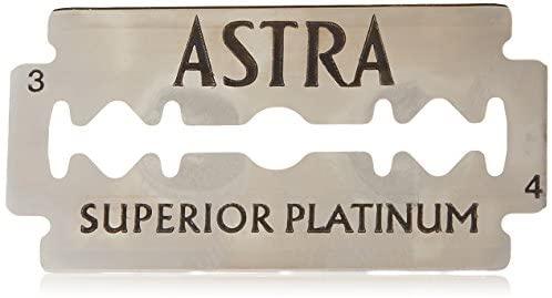 Astra Superior Platinum Double Edge (DE) Razorblade – 5 Blades