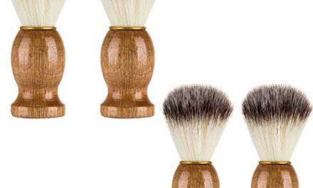 Lot de 4 brosses à raser pour homme – Pour rasage – Fait main -…