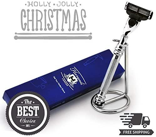 Acier inoxydable rasoir Gillette Mach3Compatible rasoir de…