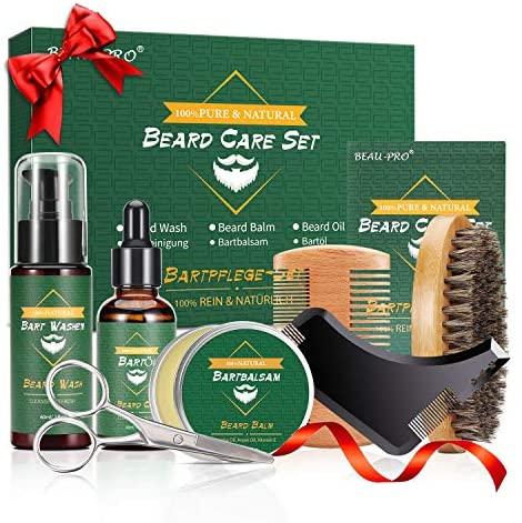 BEAU-PRO Kit Barbe, 9 Pcs, Kit…